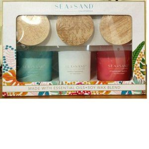 Sea & Sand 3-pack 8 oz Scented Candle Set-Soy Wax